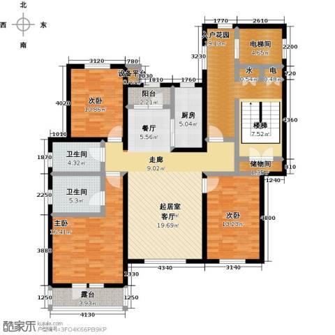 吉宝沁风御庭3室0厅2卫1厨180.00㎡户型图