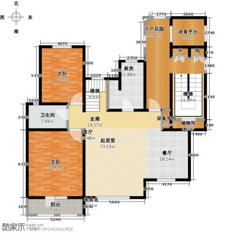 吉宝沁风御庭2室0厅1卫1厨277.00㎡户型图