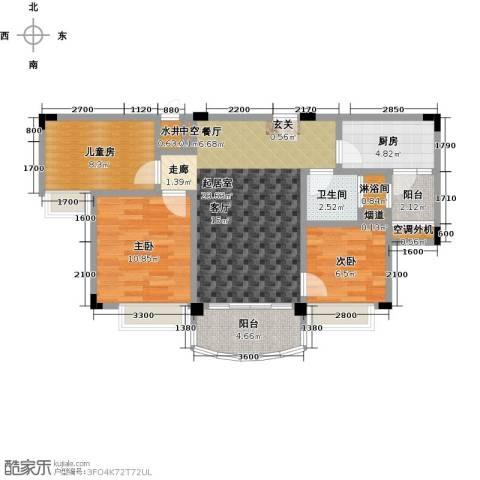 九江碧桂园3室0厅1卫1厨87.00㎡户型图