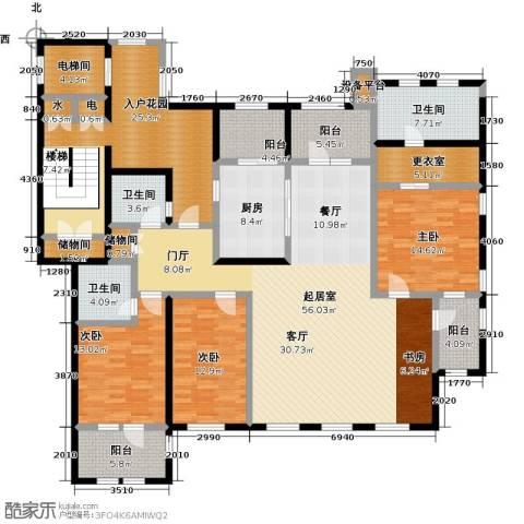 吉宝沁风御庭3室0厅3卫1厨260.00㎡户型图