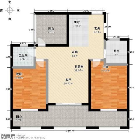 君悦・东湖公馆2室0厅1卫1厨125.00㎡户型图