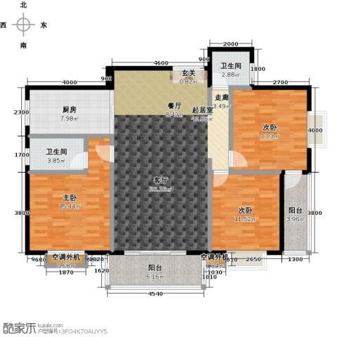 金星阳光格林3室0厅2卫1厨140.00㎡户型图