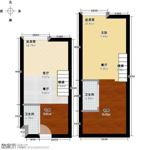 香城壹号2卫0厨48.00㎡户型图