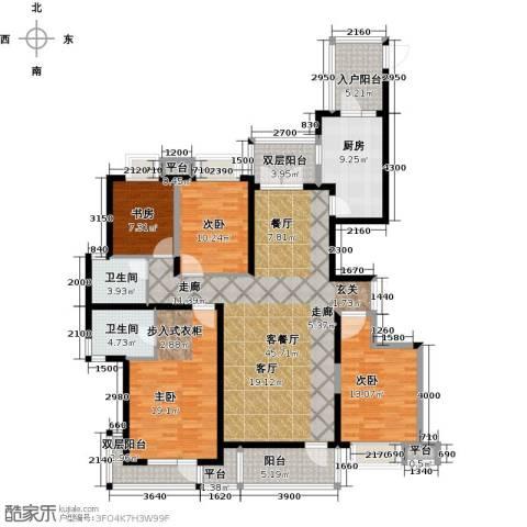 保利达江湾城4室1厅2卫1厨167.00㎡户型图