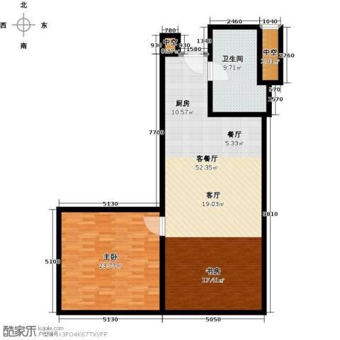 深圳湾1室1厅1卫0厨98.00㎡户型图