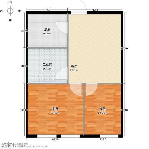 圣地秋实2室1厅1卫1厨78.28㎡户型图