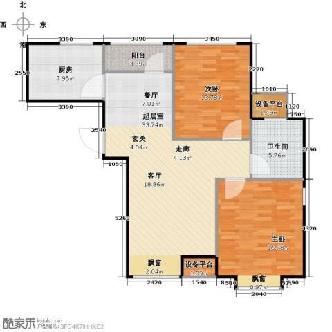 英伦假日2室0厅1卫1厨113.00㎡户型图