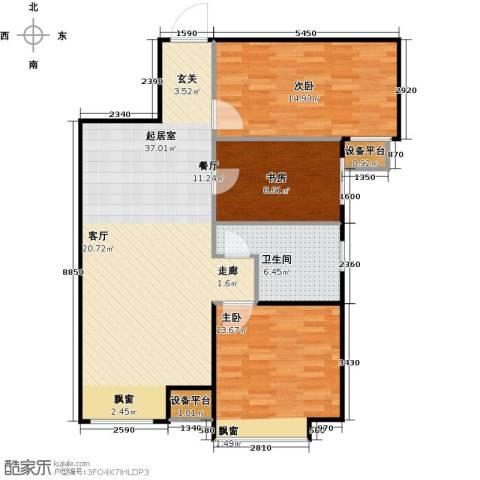 英伦假日3室0厅1卫0厨111.00㎡户型图