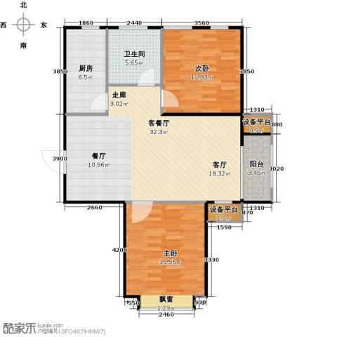 英伦假日2室1厅1卫1厨105.00㎡户型图