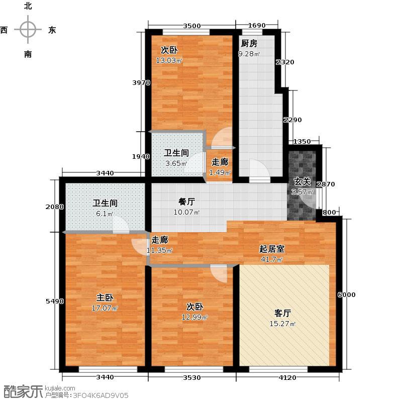 阳光晶典155.73㎡A7户型3室2厅2卫
