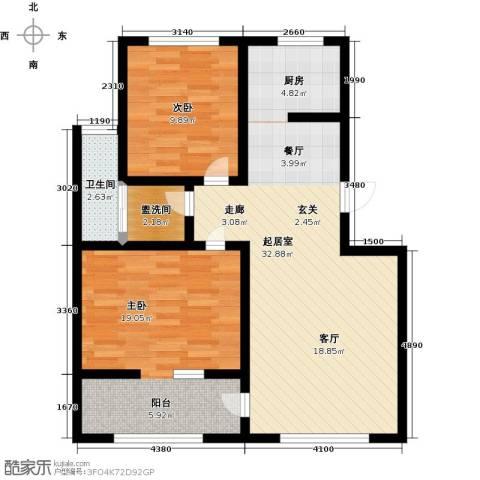 五洲太阳城2室0厅1卫0厨96.00㎡户型图