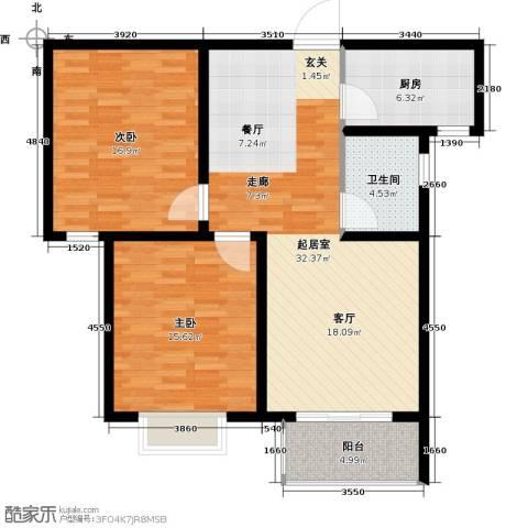 光华里2室0厅1卫1厨91.00㎡户型图