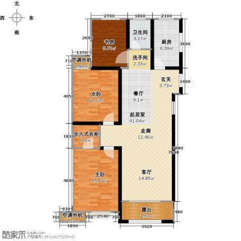 金榜府邸3室0厅1卫1厨131.00㎡户型图