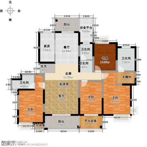 路劲翡丽湾4室0厅3卫1厨182.00㎡户型图