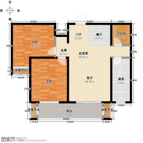 中基碧域2室0厅1卫1厨100.00㎡户型图