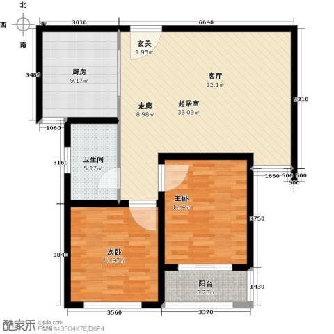 中房青年城2室0厅1卫1厨85.00㎡户型图