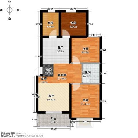 光华里3室0厅1卫1厨109.00㎡户型图