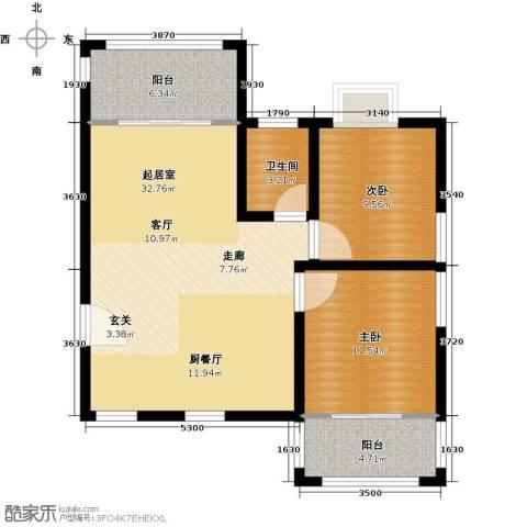 德化优山美地2室0厅1卫0厨96.00㎡户型图