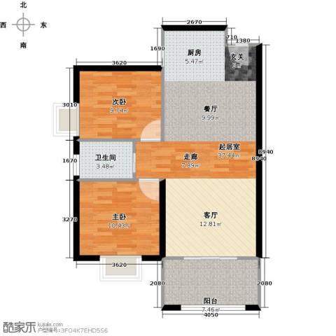 德化优山美地2室0厅1卫0厨94.00㎡户型图