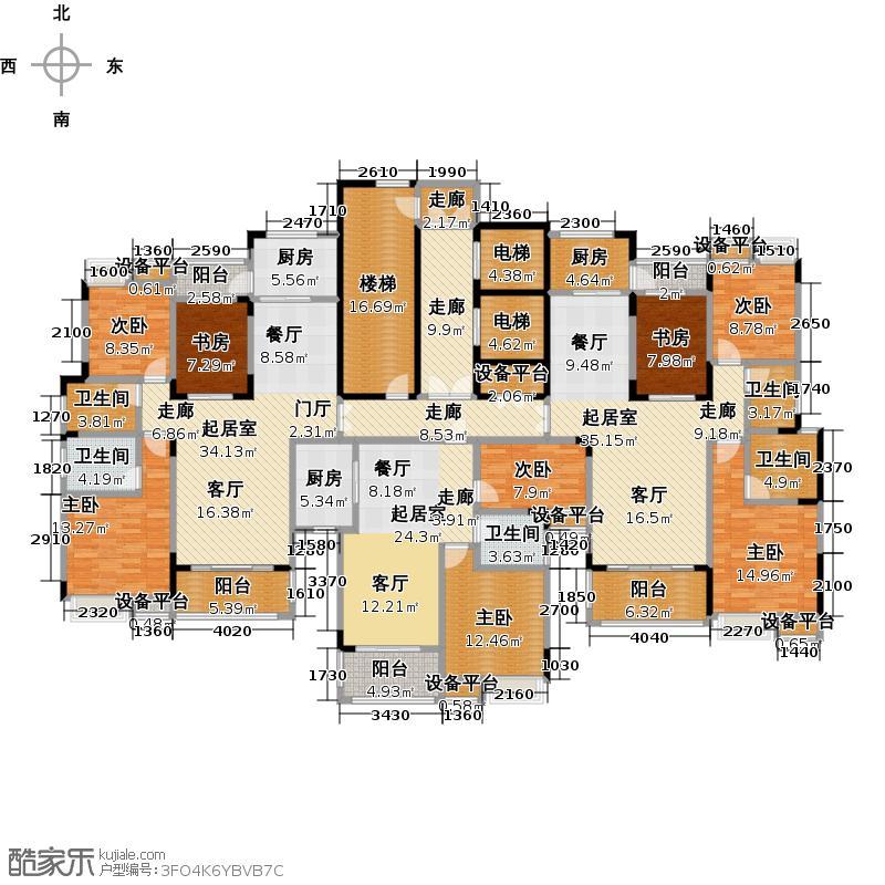 大润发广场3#楼一单元经典户型对照户型