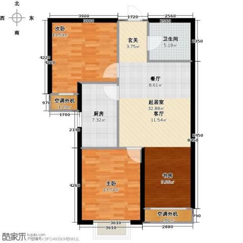 天洲视界城2室0厅1卫1厨85.00㎡户型图