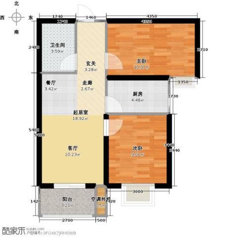 光华里2室0厅1卫1厨75.00㎡户型图