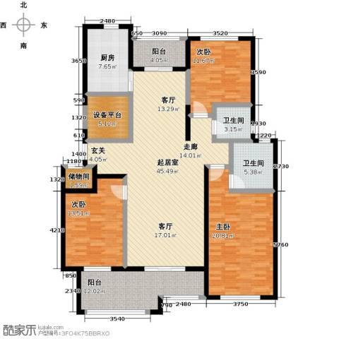 君悦・东湖公馆3室0厅2卫1厨150.00㎡户型图