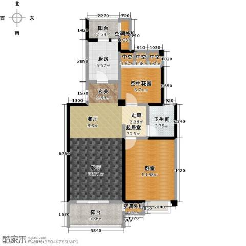 新创玉山广场1卫1厨83.00㎡户型图