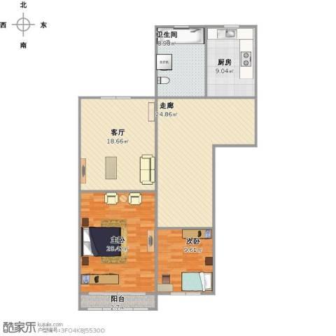 彭浦新村2室1厅1卫1厨126.00㎡户型图
