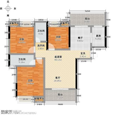 顺祥南洲1号3室0厅2卫1厨135.00㎡户型图