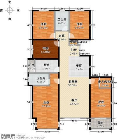 华丽家族5室0厅2卫1厨228.00㎡户型图