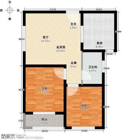 中房青年城2室0厅1卫1厨77.00㎡户型图