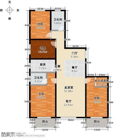 华丽家族4室0厅2卫1厨158.00㎡户型图
