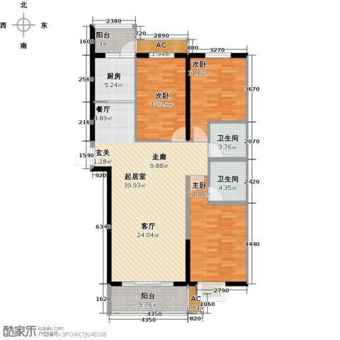 曼哈顿水岸公馆3室0厅2卫1厨142.00㎡户型图