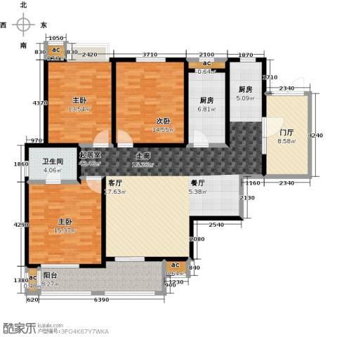 花好月圆3室0厅1卫1厨131.00㎡户型图