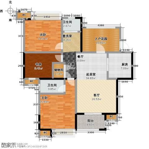 花好月圆3室0厅2卫1厨121.00㎡户型图