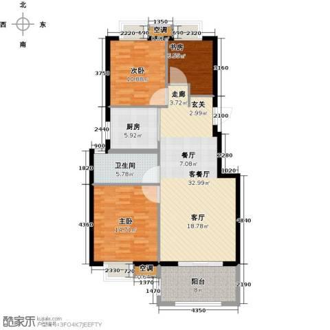 香水郡3室1厅1卫1厨121.00㎡户型图