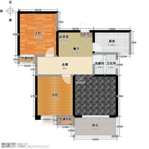 康湾一品2室0厅1卫1厨97.00㎡户型图