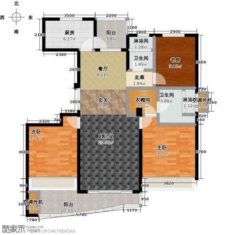 晴湾3室0厅2卫1厨127.00㎡户型图
