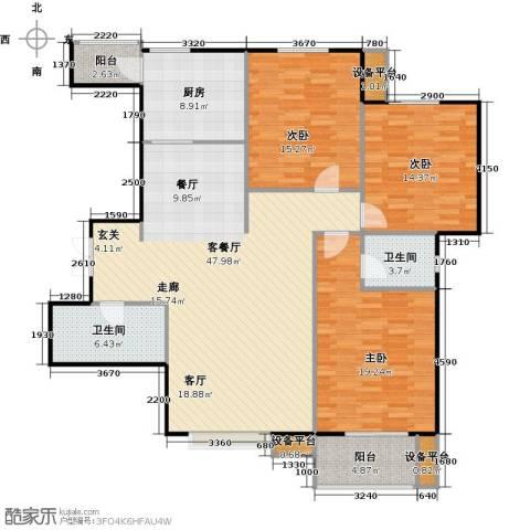 北郡帕提欧3室1厅2卫1厨137.00㎡户型图