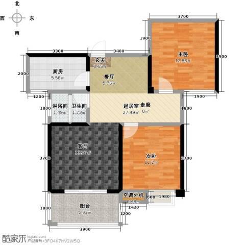 康湾一品2室0厅1卫1厨95.00㎡户型图