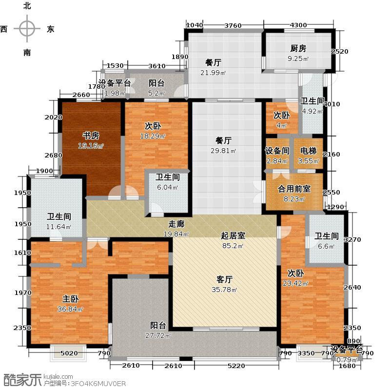 自在山A户型3室3厅4卫