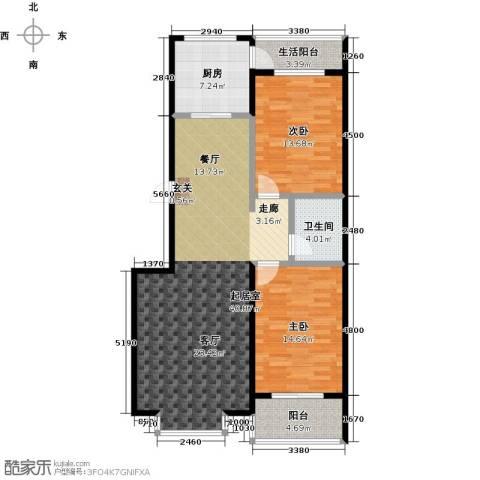 五里华都2室0厅1卫1厨99.00㎡户型图
