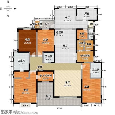 自在山5室1厅4卫1厨385.00㎡户型图