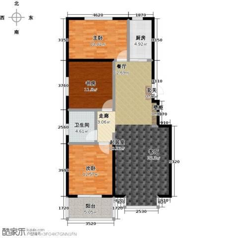 五里华都3室0厅1卫1厨108.00㎡户型图