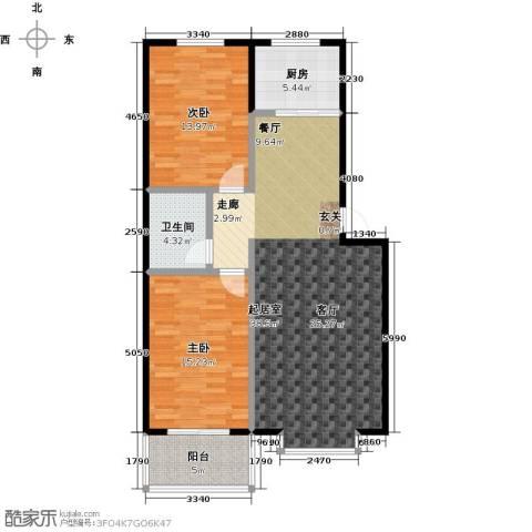 五里华都2室0厅1卫1厨92.00㎡户型图