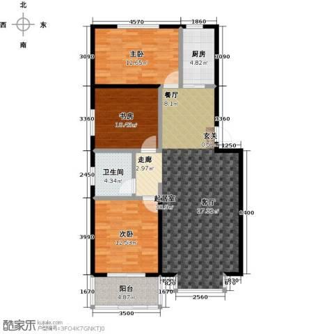 五里华都3室0厅1卫1厨105.00㎡户型图