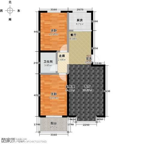 五里华都2室0厅1卫1厨87.00㎡户型图
