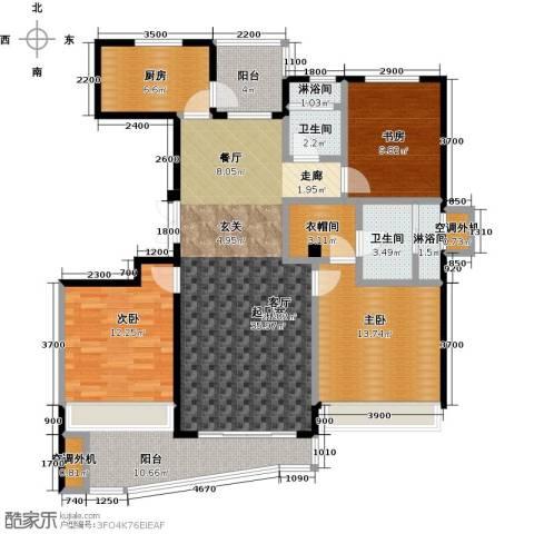 晴湾3室0厅2卫1厨126.00㎡户型图