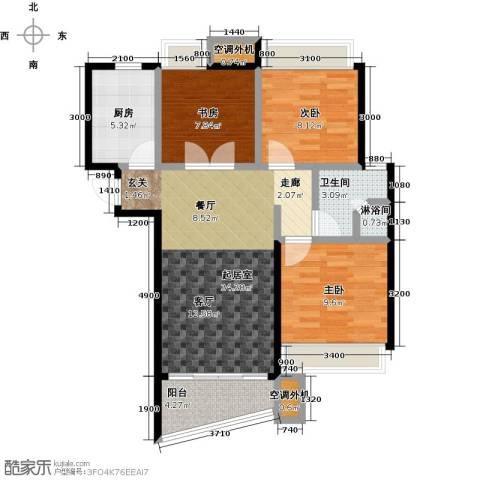 晴湾3室0厅1卫1厨89.00㎡户型图
